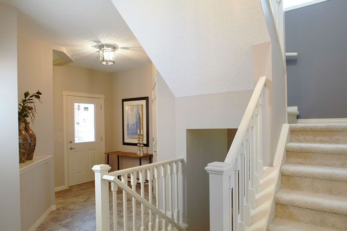 Foyer / entry in the Orion II showhome in King's Heights in Airdrie by Shane Homes