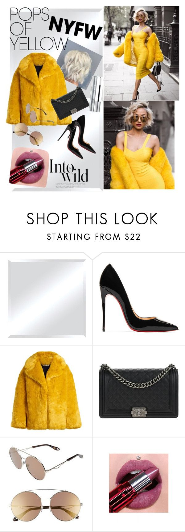 """Curvy Hips and Purple-Pinkishy Lips"" by whiteoutxxxx ❤ liked on Polyvore featuring Renwil, Christian Louboutin, Diane Von Furstenberg, Chanel, Givenchy, Christian Dior, Anja, PopsOfYellow and NYFWYellow"