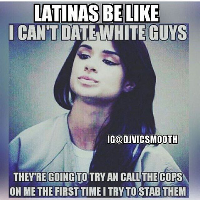 White girl dating latino