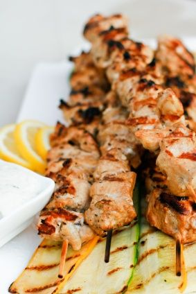 Light Greek Chicken Souvlaki - one of the most healthy, delicious diets one could choose to follow. Many of the traditional Greek meals include fishes or meats cooked in olive oil with spices that create a light meal with strong, fresh flavours .This meal is tasty and filling, without leaving you feeling guilty.