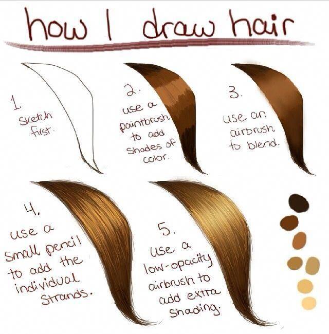 How To Draw Hair Photoshoptutorialhair Digital Art Beginner Digital Painting Tutorials How To Draw Hair