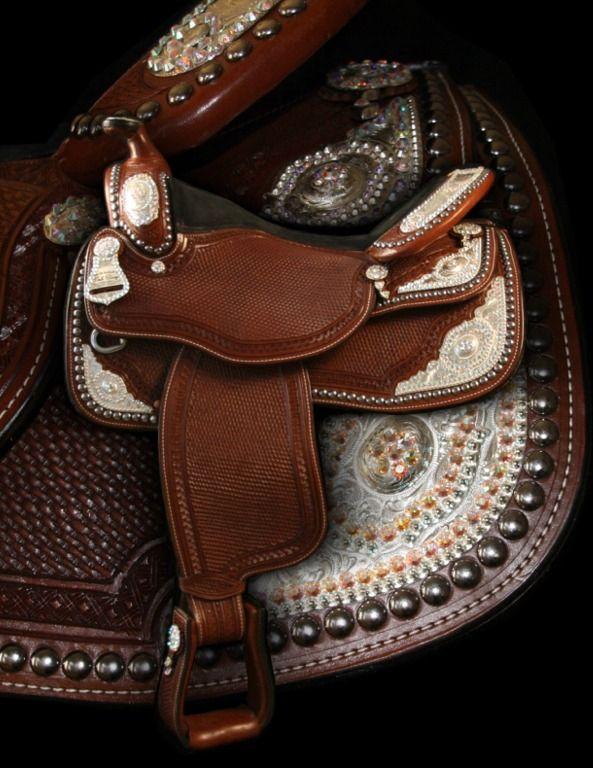 Dale Chavez Company Inc. Custom swarovski crystal saddle ... not a saddle I need but sure is sweet ... :)))))