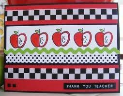 Handmade teacher card