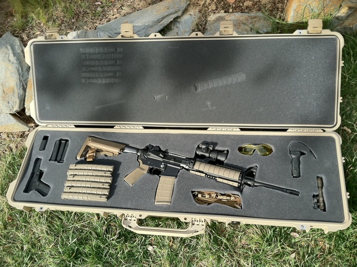 pelican case With custom AR15 - magpul stock and many more upgrades.