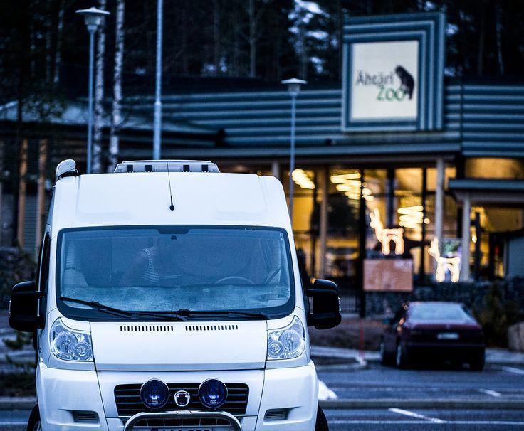 Staying overnight in front of Ähtäri Zoo main gate