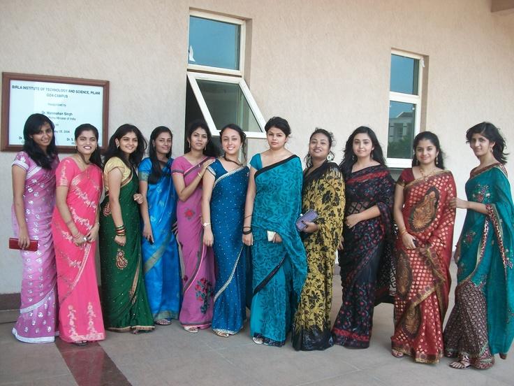 college farewell sarees <3