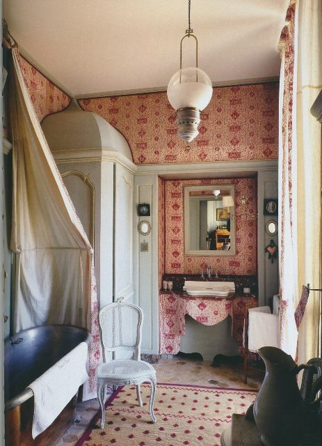 Jacques garcia home bathroom pinterest for What does salle de bain mean in english