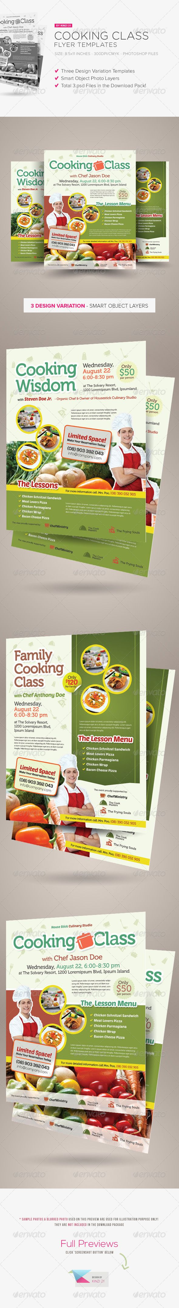 Cooking Class Flyers - Download the sourcefiles here: http://graphicriver.net/item/cooking-class-flyers/5871441?r=kinzi21