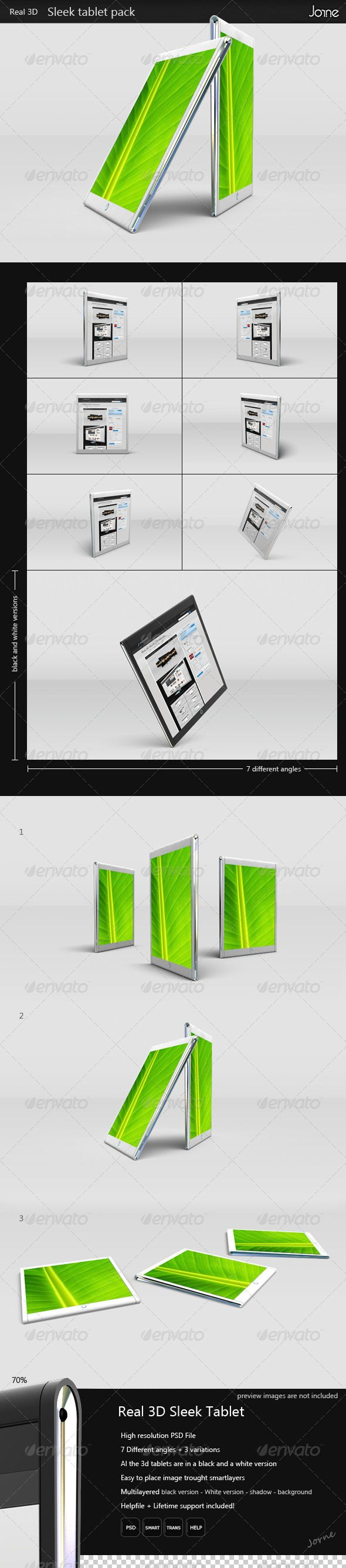 Real 3D Tablet Mockup — Photoshop PSD #portfolio #display • Available here → https://graphicriver.net/item/real-3d-tablet-mockup/1401005?ref=pxcr