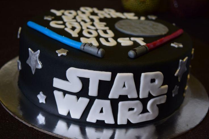 Star Wars Cake #starwars #cake #oldyouare #eatcake #deathstar #lightsaber…
