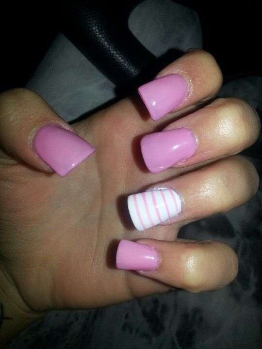 PINK Acrylic Nails, but def not the duck foot shape