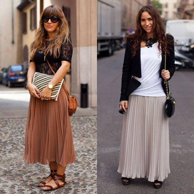 Длинные юбки модных фасонов. 105 фотографий.