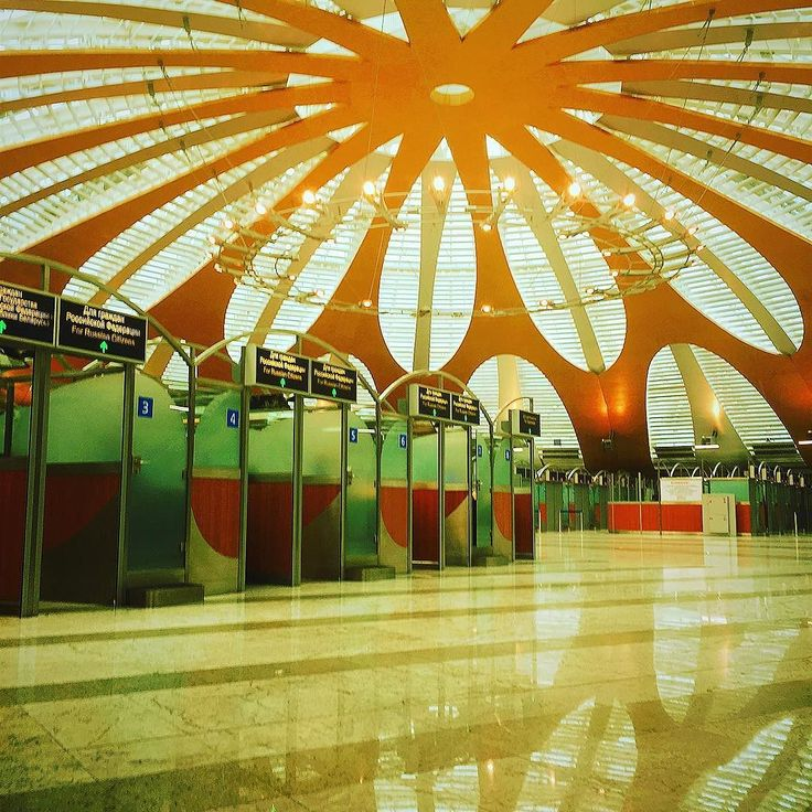 Deserted #immigration control kiosks at #Sheremetyevo International Airport in #Moscow  #svo #russia