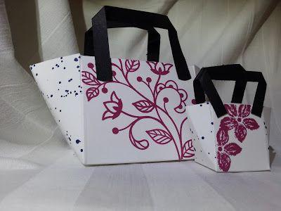 Strandtasche aus Papier; Stampin up