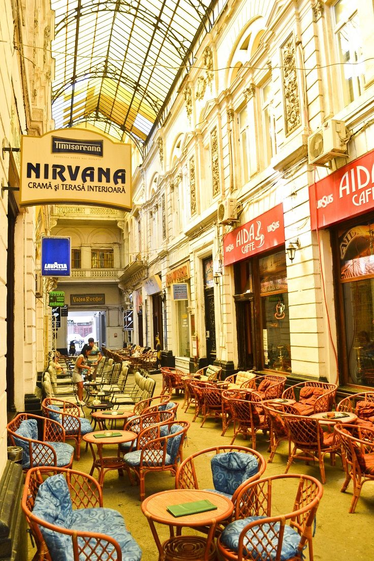 Pasajul Villacros (Covered Passage) - a covered shopping street in Old Town Bucharest