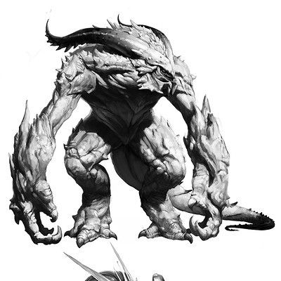 monster sketch, Hookwang Lee on ArtStation at https://www.artstation.com/artwork/51ywO
