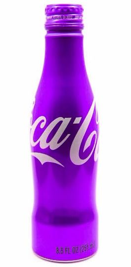 Purple Coca Cola Bottle