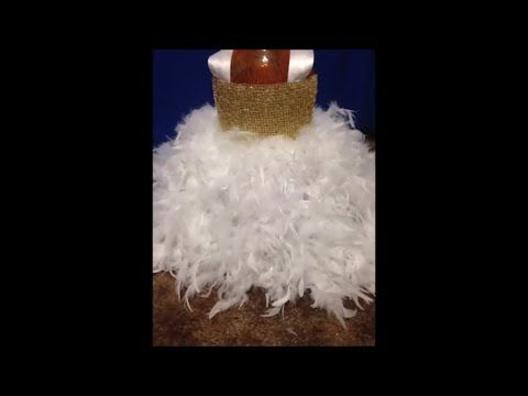 How to make a NO sew feather tutu - YouTube