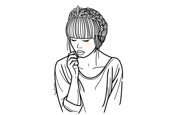 princesa sin necesidad de ser rescatada busca canalla con vistas al mal.#illustration #saraherranz #love