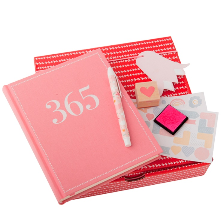 kikki.K - 'Put Pen To Paper' Mother's Day Gift Pack, $39.95 Includes: Limited Edition Pink 365 Journal, Everyday Ballpoint Pen, Stickers & Wooden Stamp