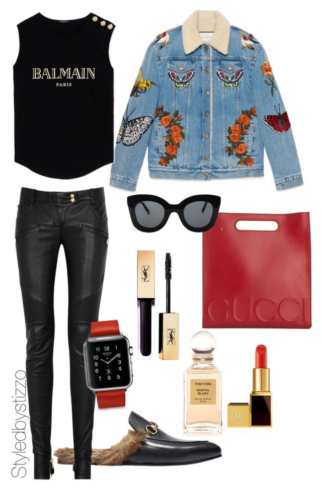 """"""""""" by stylingbystizzo on Polyvore featuring moda, Gucci, Balmain, Tom Ford e CÉLINE"""