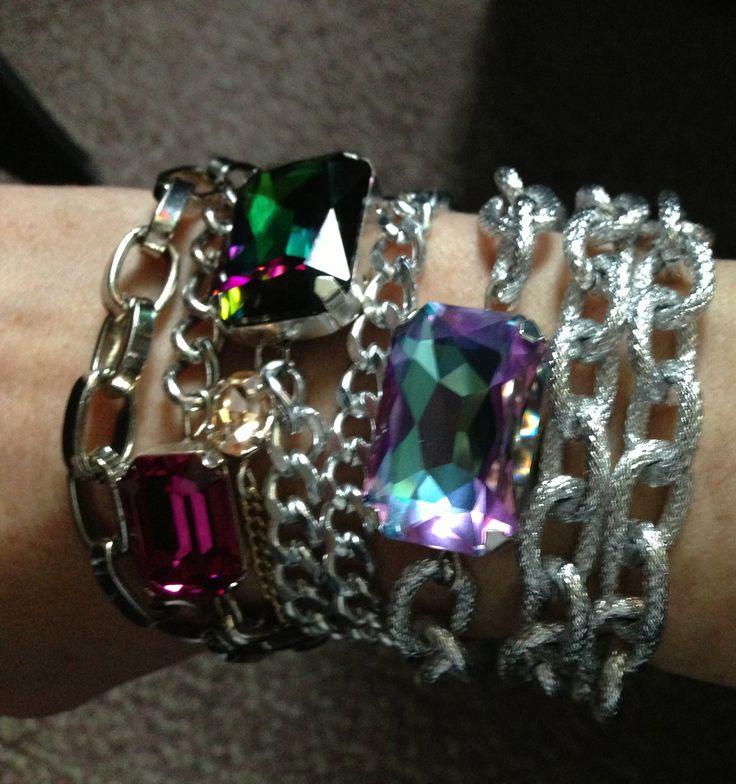 Genuine Swarovski Crystal Double Wrap Bracelets