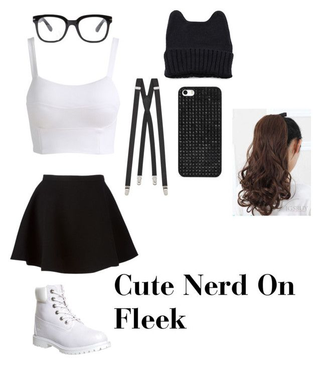 Cute Nerd Outfit by nicole123055 on Polyvore featuring Neil Barrett, Timberland, Yves Saint Laurent, BaubleBar and Forever 21