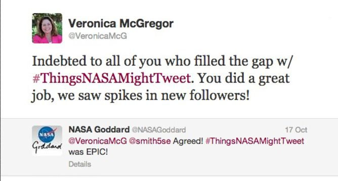 A response to the hashtag from @Veronica McGregor, News and Social Media Manager at NASA%u2019s Jet Propulsion Laboratory.