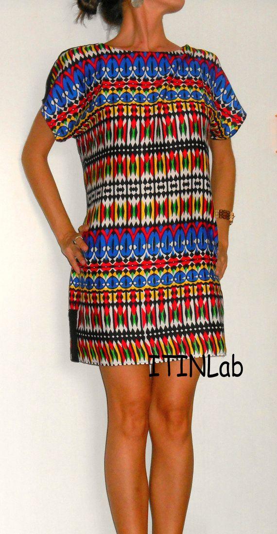 #Handmade #clothing #women #dress #tunic #fashion #multicolor #tribal #ethnic https://www.etsy.com/listing/201930577/handmadeclothingwomendresstunicfashionst?ref=related-1
