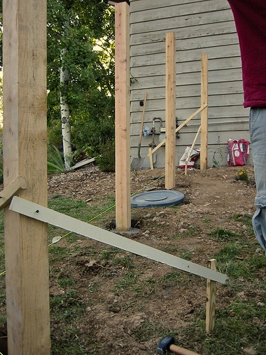 Install A Wood Fence Post Wood Fence Post Backyard Fences Fence Landscaping