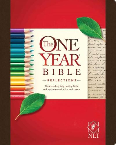 The One Year Bible Reflections: New Living Translation, Dark, Deluxe Hardcover