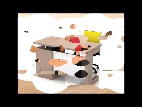 Ide Desain Meja Kantor Modern Minimalis