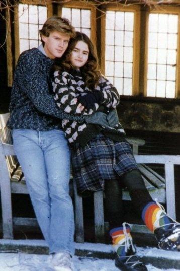 Helena Bonham Carter and Cary Elwes- Set of Lady Jane
