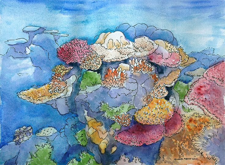 Coral Reef | Watercolor Painting | Pinterest
