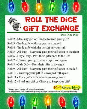 Roll the Dice Gift Exchange Games Annette Naisbitt
