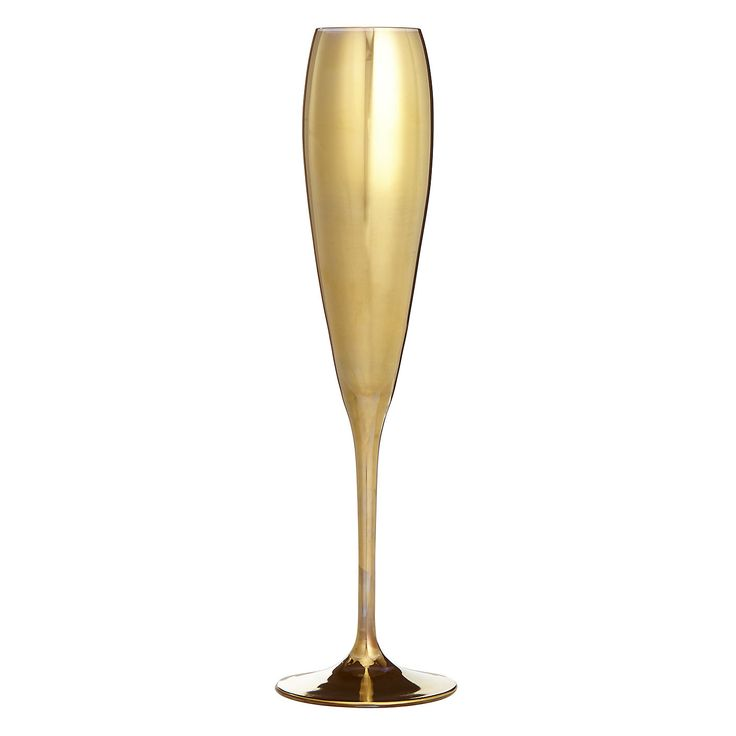 Buy John Lewis Hand Decorated Boutique Hotel Flute, Gold | John Lewis