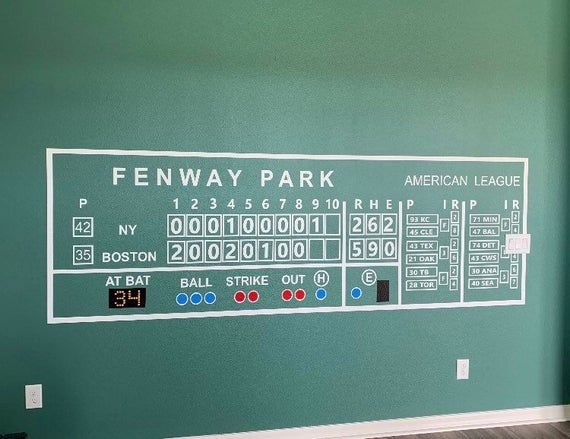 Boston Red Sox Fenway Green Monster Scoreboard Wall Decal