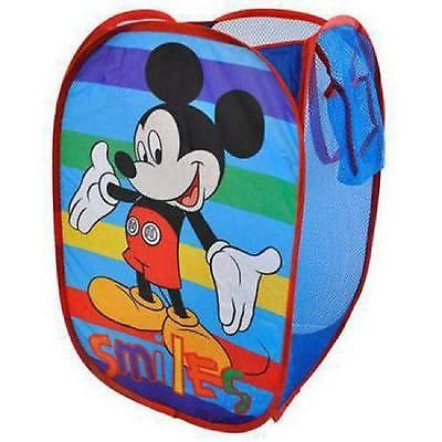 Pop Up Kids Hamper Laundry Storage Bin Toys Clothes Foldable Mickey Mouse Boys