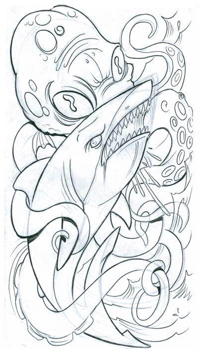 43 best Octopus Tattoo Flash images on Pinterest Octopus tattoos