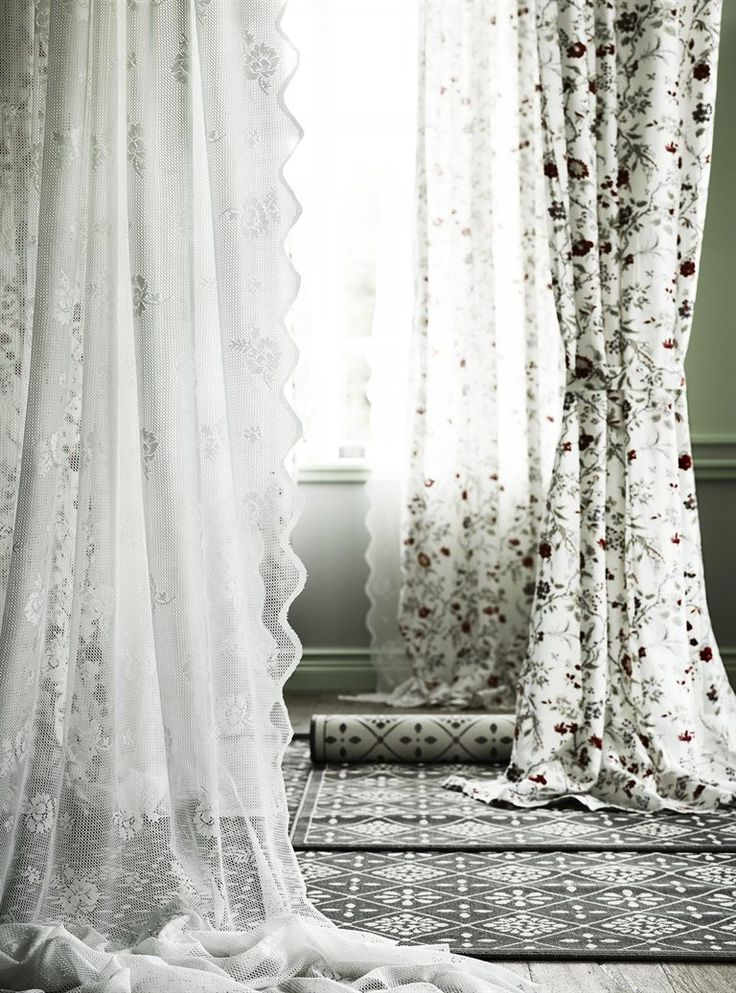 INGMARIE curtains with tie-backs £35/pair 145×300cm. Muliticoloured. 502.619.24