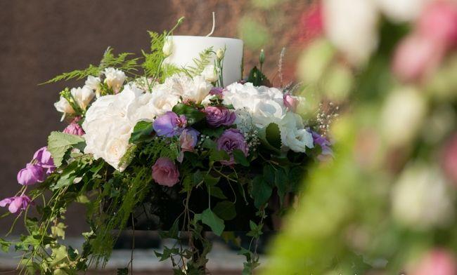 Wedding candles romantic decoration. Orthodox wedding of Elina. kefalonia wedding. Cleopatra's Weddings - wedding planner in Greece