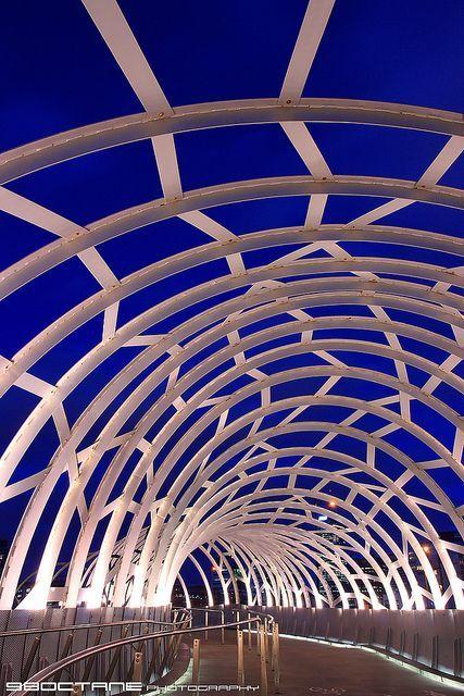 Webb Bridge at The Blue Hour, Docklands, Melbourne, Victoria