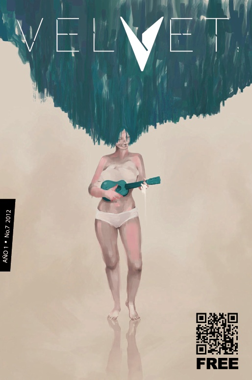 """Portada Revista Velvet Año1 No. 7 """"My Ukelele"""" por Carolina Rodriguez Fuenmayor"""