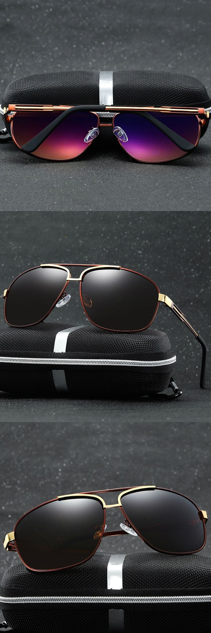 2017 Metal Frame Vintage Polarized aviator Sunglasses Men Brand Design Driving Fishing Travel Fashion lunettes de soleil homme