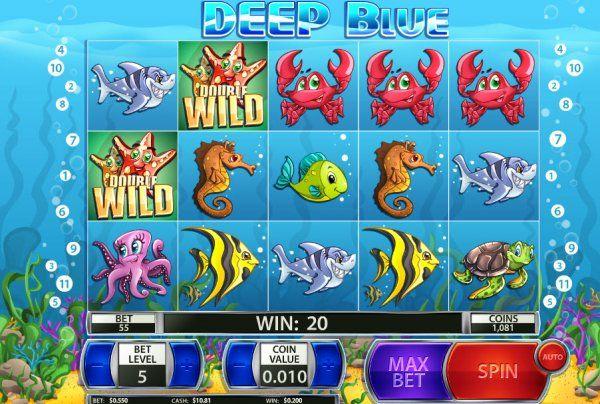 Diepblauwe Penny sleuf spel rollen - #Gokkastenonline