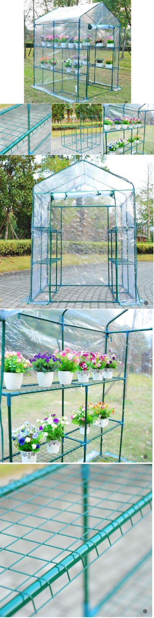 Greenhouses And Cold Frames 139939: Walk In Greenhouse Kit Steel Frame Patio  Yard Garden Plant