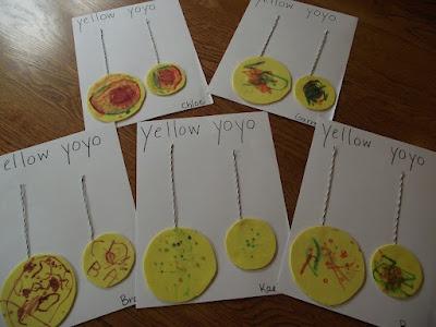 Y is for Yellow YoYoChildhood Playschool, Yarns Bracelets, Yellow Yo Yo, Letters Y Crafts For Preschool, Enchanted Childhood, Letters Crafts, Yellow Yarns, Preschool Crafts, Yellow Yoyo