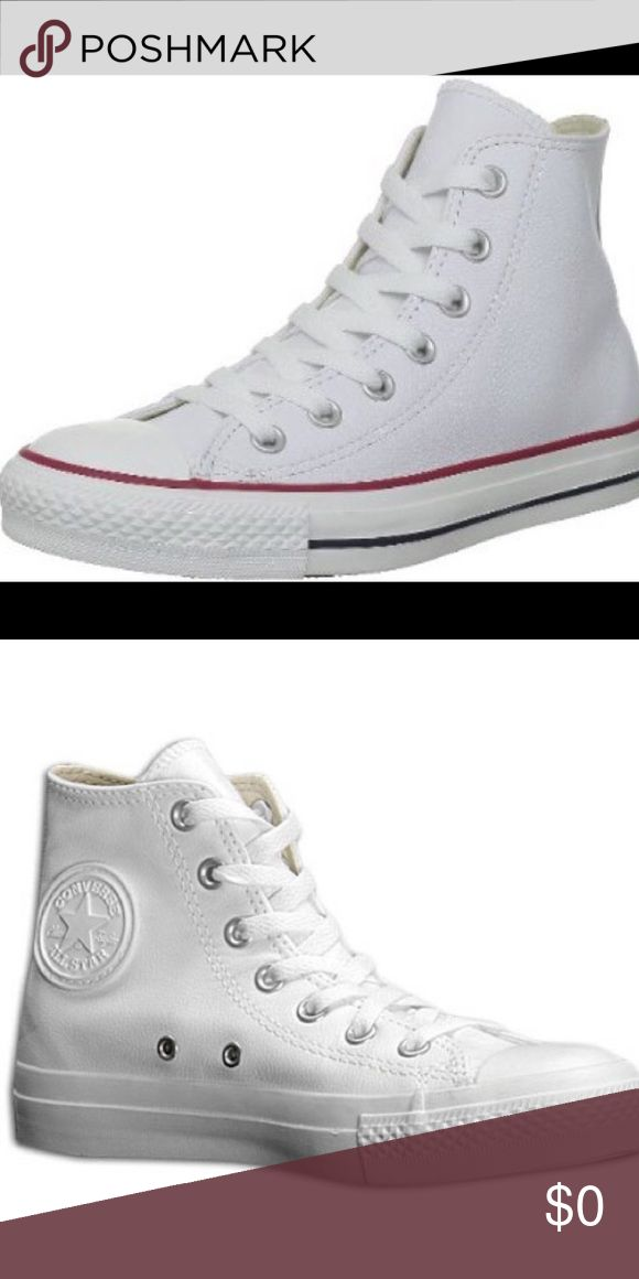 ISO WHITE HIGH TOP LEATHER CONVERSE (Size 7) Pls help I don't want to spend a lot & buy new ones from the store!! Converse Shoes Sneakers