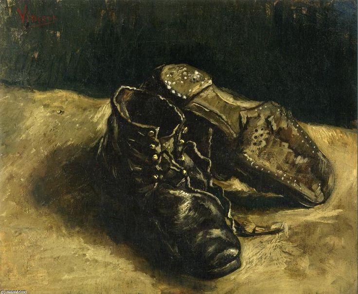 Poster Leinwandbild Ein Paar Schuhe Vincent van Gogh