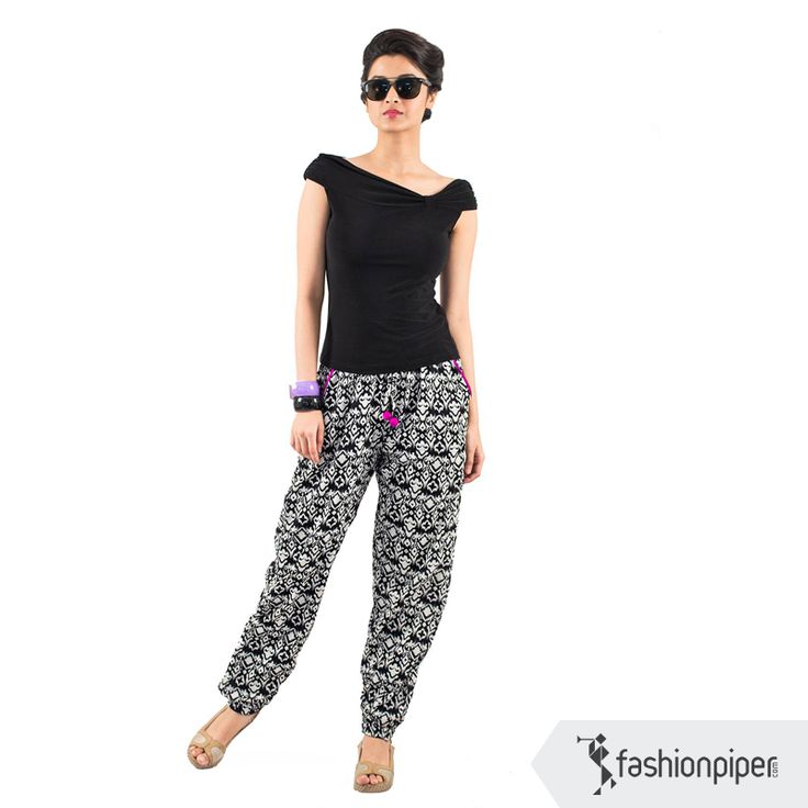 #trendy #trousers  Link to buy: http://www.fashionpiper.com/women/western-wear/women-bottom-wear/art-attack-trouser-1378.html